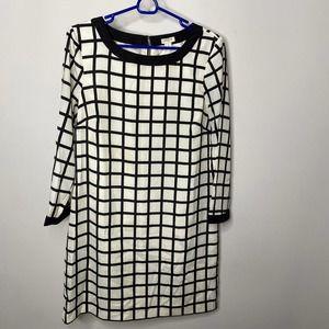 J. Crew shift checkered print dress size 6